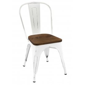 Стул VIP Loft Chair butter white vintage